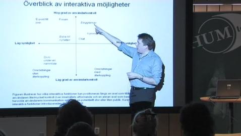 """Thumbnail for entry 090311 Karlsson: """"Nätjournalistik – Fakta, förväntningar och farhågor"""""""