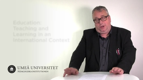 Thumbnail for entry Education: Teaching and Learning in an International Context