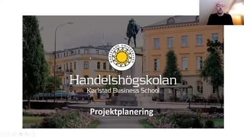 Thumbnail for entry Projektplanering  med WBS, Logistk nätverk  och Gantt