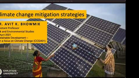 Thumbnail for entry CCGA01 - Lecture 3.2 - Climate change mitigation strategies
