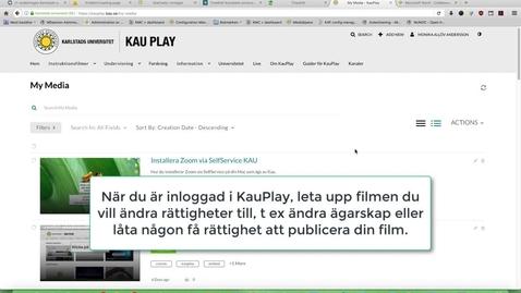 """Thumbnail for entry Collaboration  – ändra ägare på filmer eller lägg till """" Co - editors och  Co - Publishers"""""""