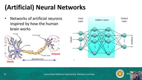 Thumbnail for entry ML - Artificial Neural Networks