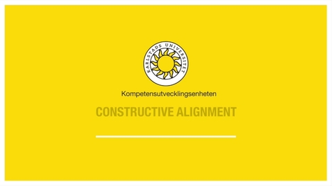 Thumbnail for entry Constructive alignment