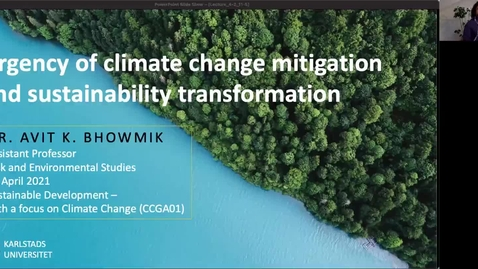Thumbnail for entry CCGA01 - Lecture 3.1 - Urgency of climate change mitigation and sustainability transformation