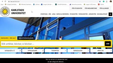Thumbnail for entry Referera med hjälp av citeringsfunktioner