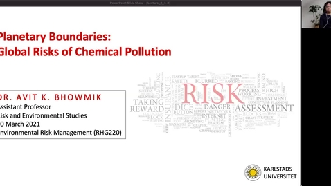 Thumbnail for entry RHG 220 - Lecture 2 - Planetary Boundaries:  Global Risks of Chemical Pollution