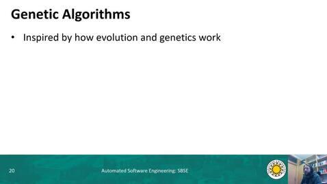 Thumbnail for entry SBSE - Genetic Algorithms