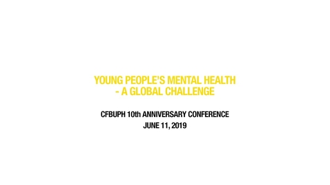 Thumbnail for entry Young People's Mental Health - A Global Challenge