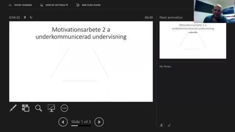 Thumbnail for entry Motivationsarbete 2a: Begreppslig hantering av nivåkonflikter och förförståelser