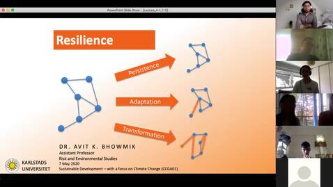 Thumbnail for entry CCGA01 - Lecture 4.1 - Resilience: Persistence, Adaptation, TRANSFORMATION
