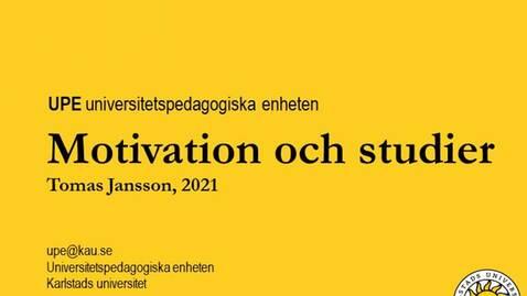 Thumbnail for entry UPE Motivation och studier
