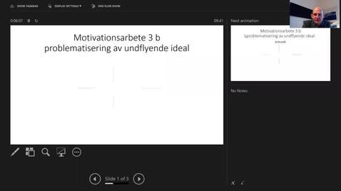 Thumbnail for entry Motivationsarbete 3b: Problematisering av undflyende ideal