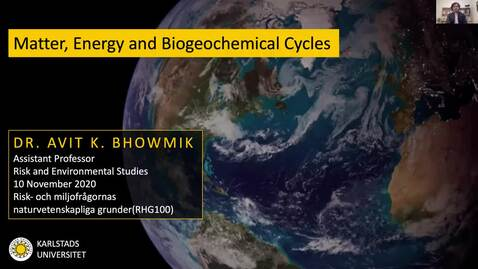 Thumbnail for entry RHG 100 - Matter, Energy and Biogeochemical Cycles