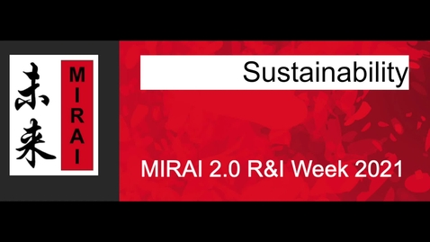 Thumbnail for entry Plenary talk at MIRAI Research and Innovation Week 2021