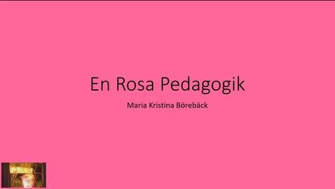 Thumbnail for entry En Rosa Pedagogik_20191201