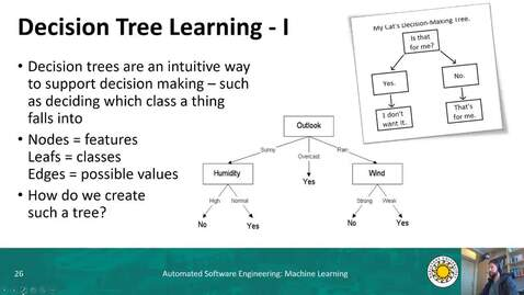Thumbnail for entry ML - Decision Tree Learning