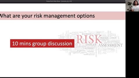 Thumbnail for entry RHG 220 - Lecture 6 - Addressing the Risk