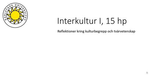 Thumbnail for entry Kulturbegreppet och tvärvetenskapliga dilemman - IKGA1A - 21 juni