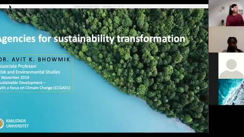 Thumbnail for entry CCGA 01 - Lecture 4.4 - Agencies for sustainability transformation