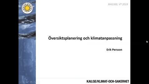 """Thumbnail for entry RHG300 Föreläsning """"Kommunala planprocesser - ÖP"""""""