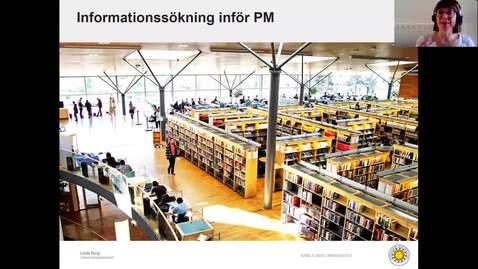 Thumbnail for entry Informationssökning inför PM. VT-20