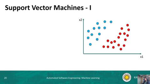 Thumbnail for entry ML - Support Vector Machines