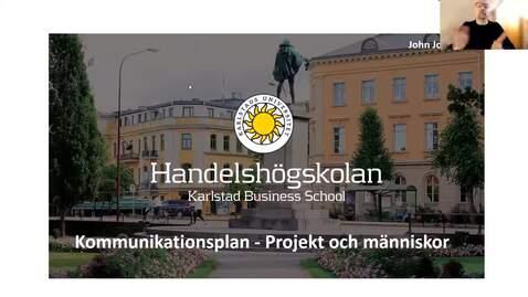 Thumbnail for entry Kommunikationsplan - Projekt och människor