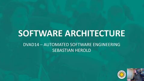 Thumbnail for entry Software Architecture - Introduction