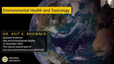 Thumbnail for entry RHG 100 - Lecture 5.4 - Environmental Health and Toxicology