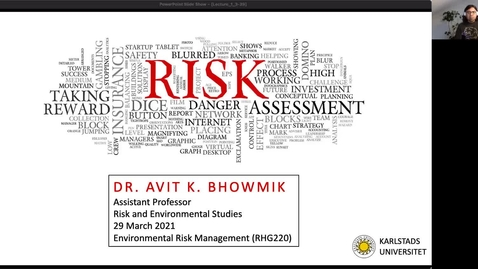 Thumbnail for entry RHG 220 - Lecture 1 - Risk as a concept