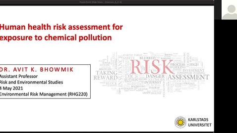 Thumbnail for entry RHG 220 - Lecture 5 - Human health risk assessment for exposure to chemical pollution