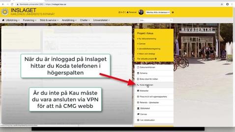 Thumbnail for entry Koda telefonen - CMG Webb