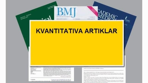 Thumbnail for entry PubMed - sök kvantitativa artiklar