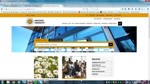 Thumbnail for entry Databassökning Cinahl