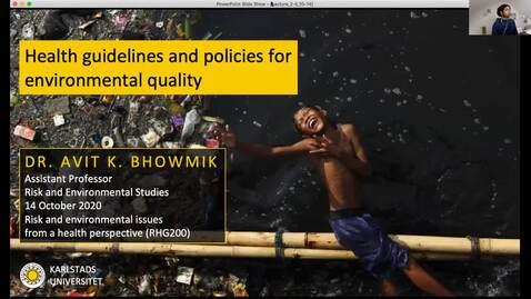 Thumbnail for entry RHG200 - Lecture 2.5 - Health guidelines and policies for environmental quality