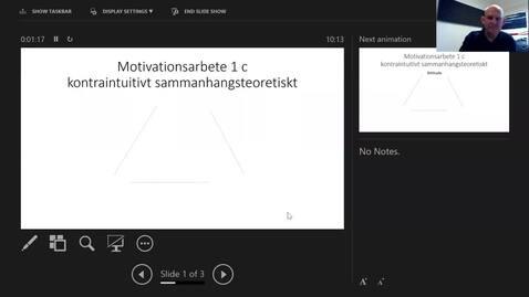 Thumbnail for entry Motivationsarbete 1c: Kontraintuitivt agerande på sammanhangsteoretisk grund