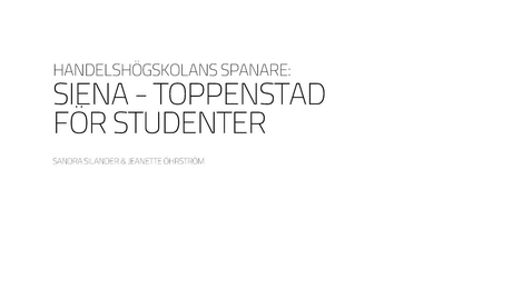 Thumbnail for entry Handelshögskolans studenter i Siena