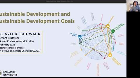 Thumbnail for entry CCGA01 - Lecture 1.3 - Sustainable Development and  Sustainable Development Goals
