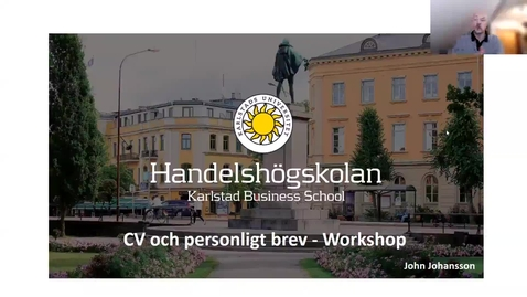 Thumbnail for entry Workshop - CV och personligt brev