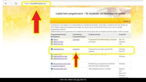 Thumbnail for entry ClaroRead Plus - Installera programmet