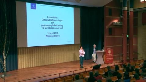 Tumnagel för Introduktion till dataskyddsförordningen och personuppgiftsbehandling vid Göteborgs universitet