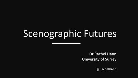 Tumnagel för Rachel Hann Scenographic Futures 3 December 2019