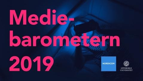 Tumnagel för Nordicom – Webbinarium om Mediebarometern 2019