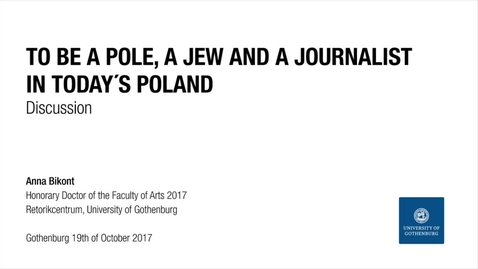 Tumnagel för Discussion:To be a pole, a jew and a journalist in today´s Poland