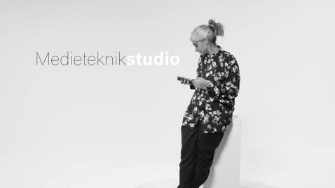 Tumnagel för Välkommen till Medietekniks studio!