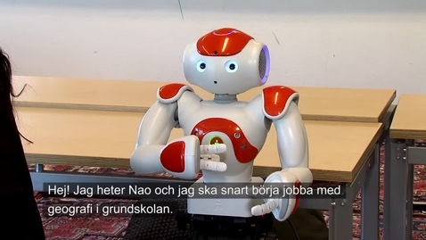 Tumnagel för Lärarroboten NAO