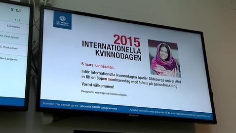 Tumnagel för Inför-reportage internationella kvinnodagen