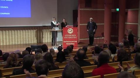 Tumnagel för Fullsatt när Nobelpristagare föreläste i Göteborg