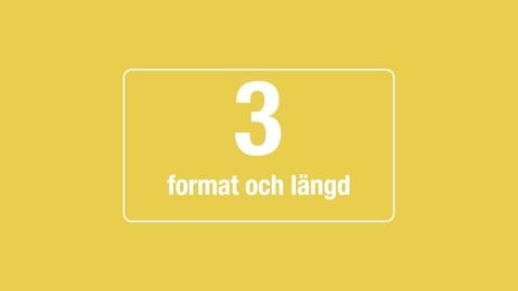 Tumnagel för 3. Format och längd
