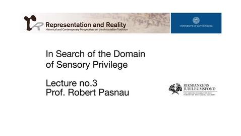 Tumnagel för In Search of the Domain of Sensory Privilege